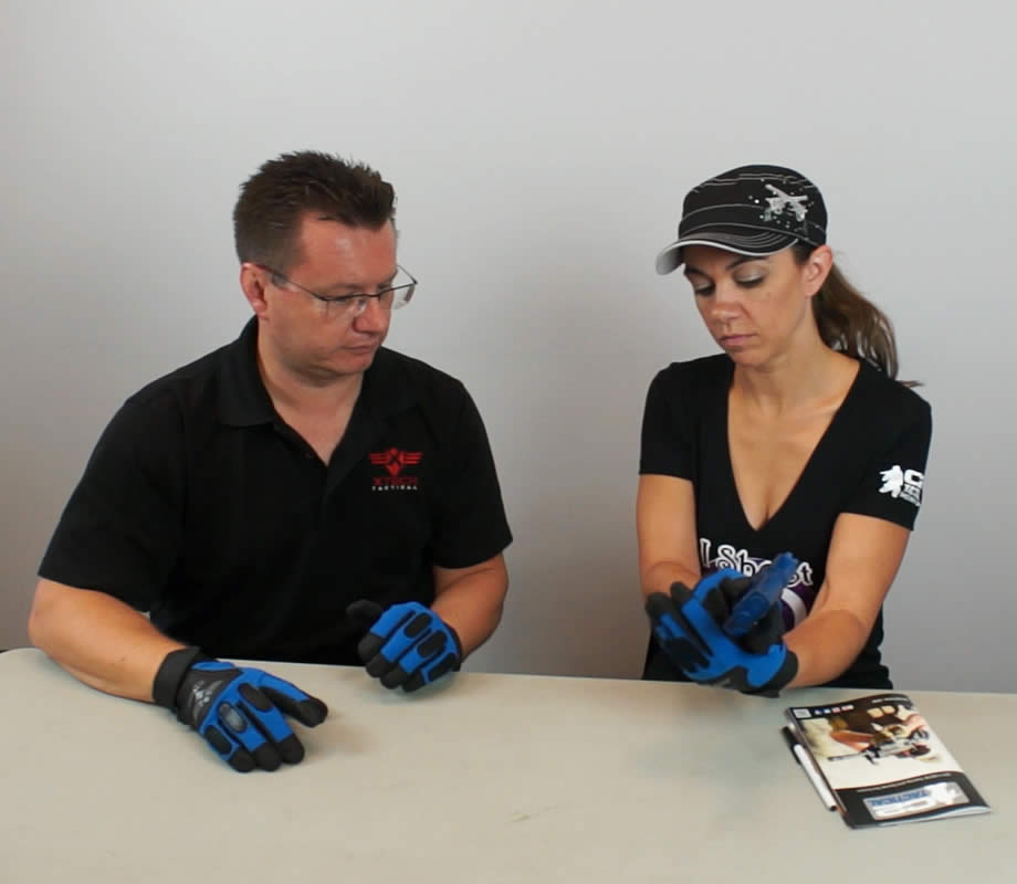 Pistol Training Glove Promo At Table